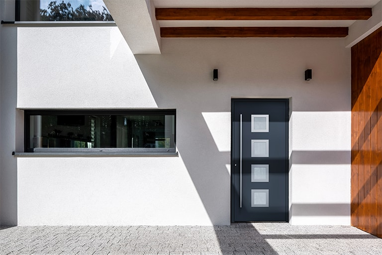 Photo porte d'entrée vitrée Edouard Teodoor